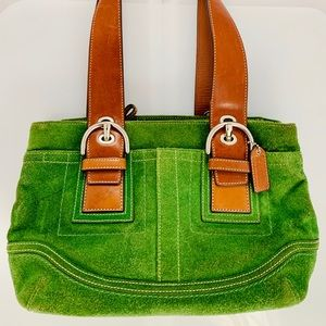 Coach Fir Green Suede East West SOHO Tote